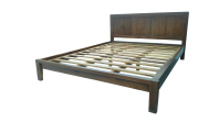 Bed King Size (Dark Walnut Color)