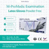 M-Pro Medic Latex Glove Powder Free @ CE certification