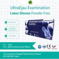 UltraEjau Latex Glove Powder Free @ CE certification