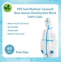 45Gsm PPE Suit Medical  Coverall Non-woven Disinfection Work @ 100% Safe