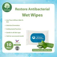 Restore Antibacterial Wet Wipes @ Enriched with Aloe Vera