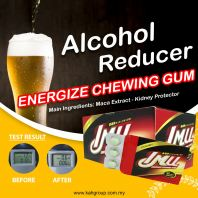 Alcohol Reducer Chewing Gum @ 10 pack per box