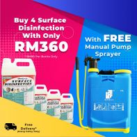 Purchase 4 of 5 Litre Surface Disinfection @ Free 2 IN 1 Fogging Sprayer