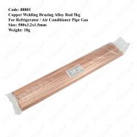 Code: 88801 Copper Welding Brazing Alloy Rod 500x3.2x1.5m (1 Pack)