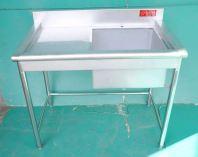 Stainless Steel 1 Bowl Sink Table 白钢单斗洗盆