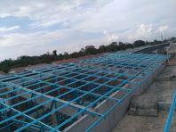 10 units terrace house light weight truss works at Muar, Johor Bahru