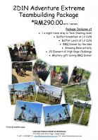 2D1N ADVENTURE EXTREME TEAMBUILDING PACKAGE
