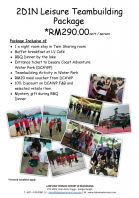 2D1N LEISURE TEAMBUILDING PACKAGE