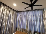 Glossy Dim-out Curtain