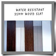 Water Resistant 35mm Wood Slat