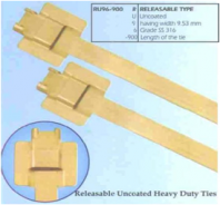 Stainless Steel Cable Tie Releasable Type - Uncoated