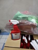 Full of sinitizer and disinfection equipment