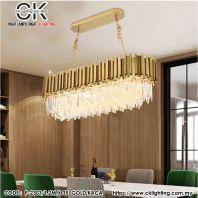 CK LIGHTING PENDANT LUXURY CRYSTAL LONG (P-2303/1.2MX35 GOLD KACA)