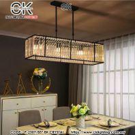 CK LIGHTING PENDANT GLASS HANGING LIGHT FOR DINING AREA (P-2307/85*BK)