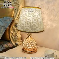 CK LIGHTING LUXURY GOLD CIRCLE CRYSTAL TABLE LAMP (TBL 3265-GD)