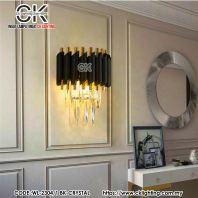 CK LIGHTING POST MODERN LUXURY CRYSTAL WALL LAMP (WL-2304/1 BK)