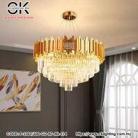CK LIGHTING PENDANT LUXURY CRYSTAL ROUND 9P-2303/600-GD-RD-ML-E14)
