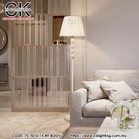 CK LIGHTING WHITE METAL CLASSING STYLE FLOOR LAMP WHITE (FL-T010/1F WT BODY)