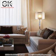 CK LIGHTING MODERN SILVER WITH CRYSTAL FLOOR LAMP (FL-80002-IF BROWN)
