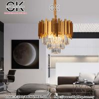 CK LIGHTING PENDANT LUXURY CRYSTAL SIZE 40 CM (P-2303/400 MATERIAL-GD)