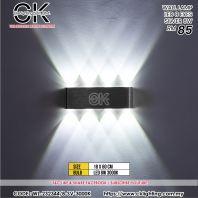 CK LIGHTING WALL LAMP LED 8 EYES SILVER 8W (WL-232344/8-SV-3000K)