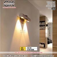CK LIGHTING WALL LAMP 6W 3000K 360 DEGREE (WL-B900/2-6W-LED-BK+SV)