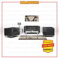 MR.OFFICE : COM-SET SERIES PU LEATHER 1+1+2 OFFICE SOFA c/w CENTER COFFEE TABLE & SIDE TABLE