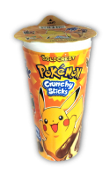 Pokemon Crunchy Sticks with Chocolate Cream 40g