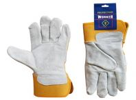 Yellow Semi Leather Gloves