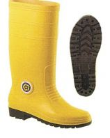 Korakoh Yellow Rain Boot With Metal