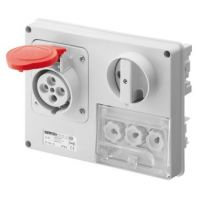 GEWISS Horizontal interlocked socket outlets with fuse holder base - 50/60Hz