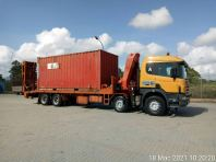 Lorry Crane Deliver Container