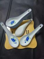 BR7608 BLUE ROSE DESIGN CHINESE SPOON