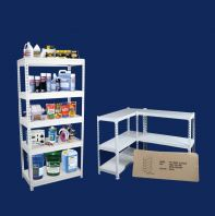 DIY 1'W x 3'L x 6'H BOLTLESS RACK C/W 5 LEVEL METAL SHELF (RM 149.00/UNIT)