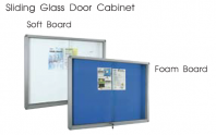 Sliding Glass Door Cabinet Notice Board
