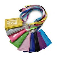 ID Card Holder with Zip and Lanyard -1pcs