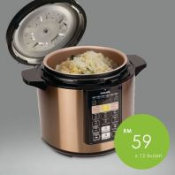 Philips Electronic Pressure Cooker 6Liter | RM59/month