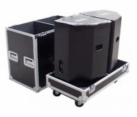 Flightcase for Two PS15 Speaker with Wheel & Hole Above