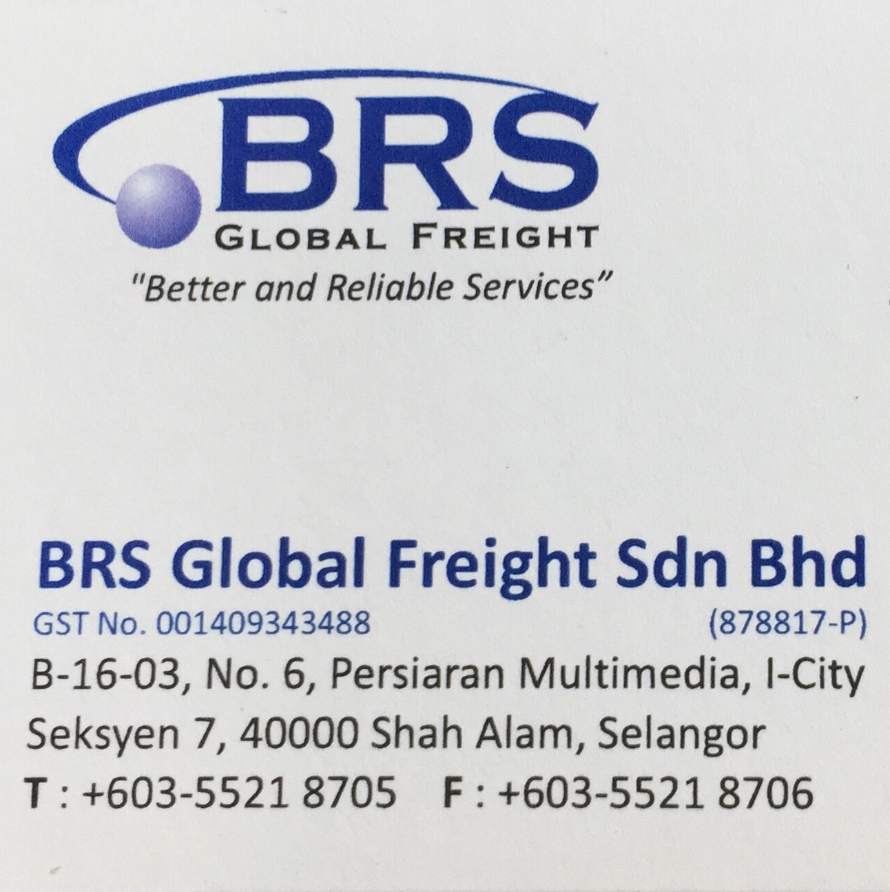 BRS Global Freight Sdn Bhd