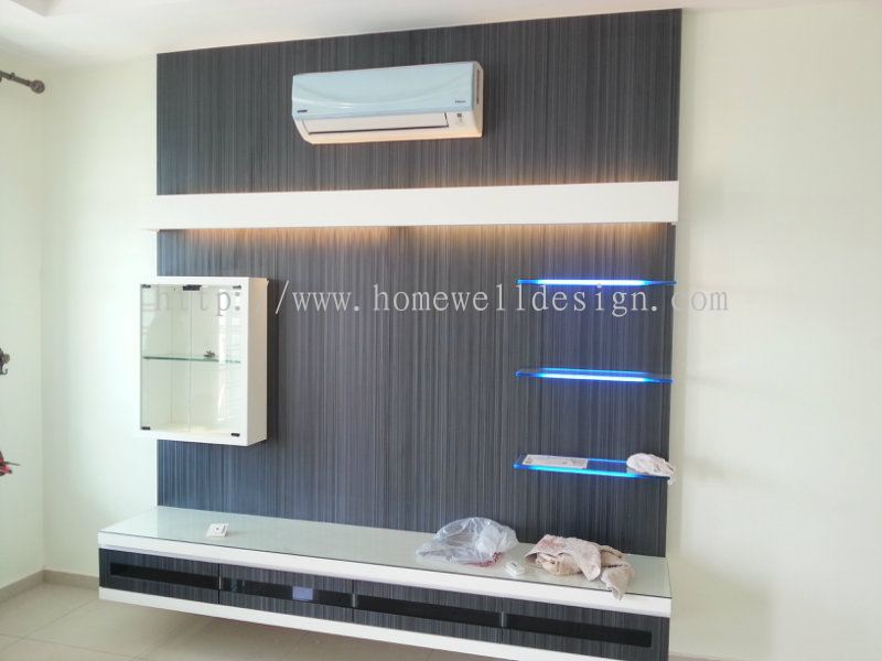 Johor bahru jb tv cabinet from homewell design amp renovation works