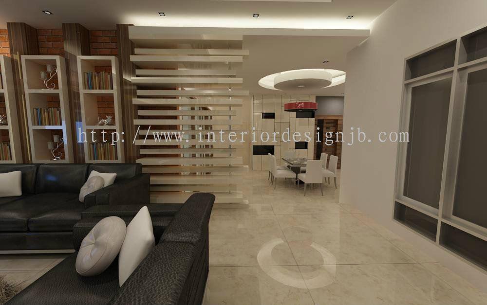 Rekaan Rumah Moden Rekabentuk Ruang Tamu Johor Bahru