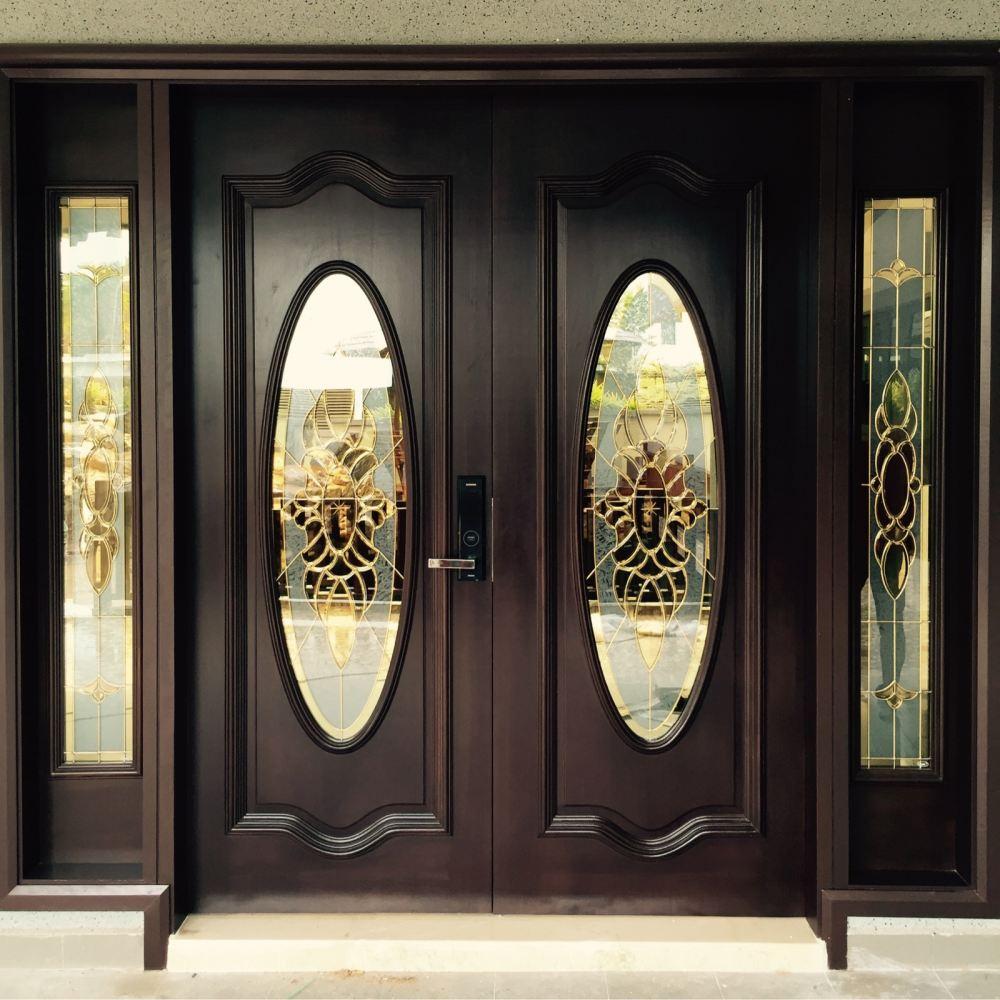 Johor wooden doors with glass designs doors from koon for Door design johor