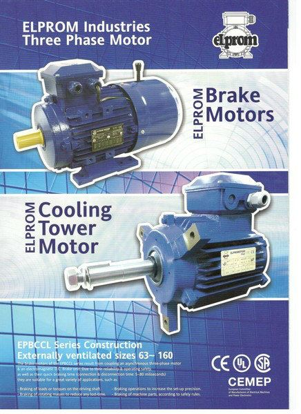 Johor Elprom Brake Motor Cooling Tower Motor Elprom