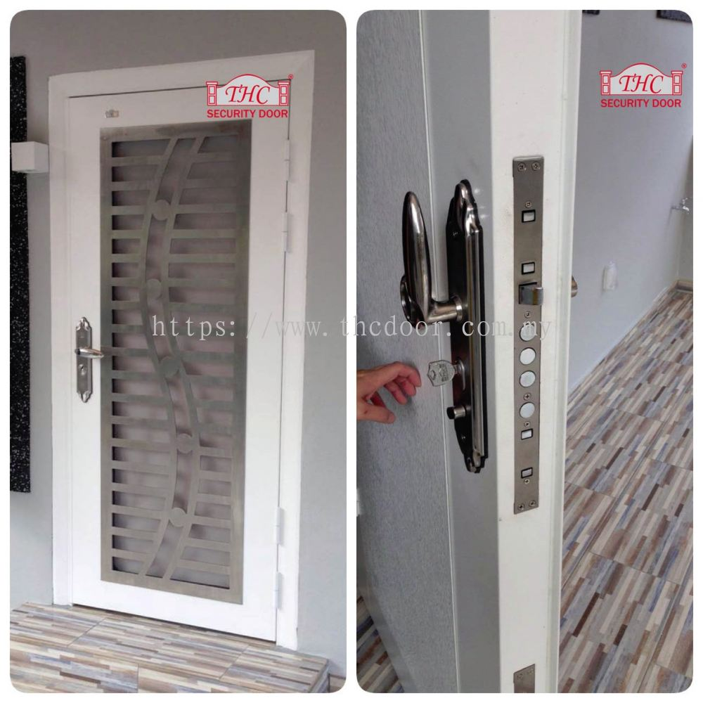 Johor top security door from thc metal engineering sdn bhd for Door design johor bahru