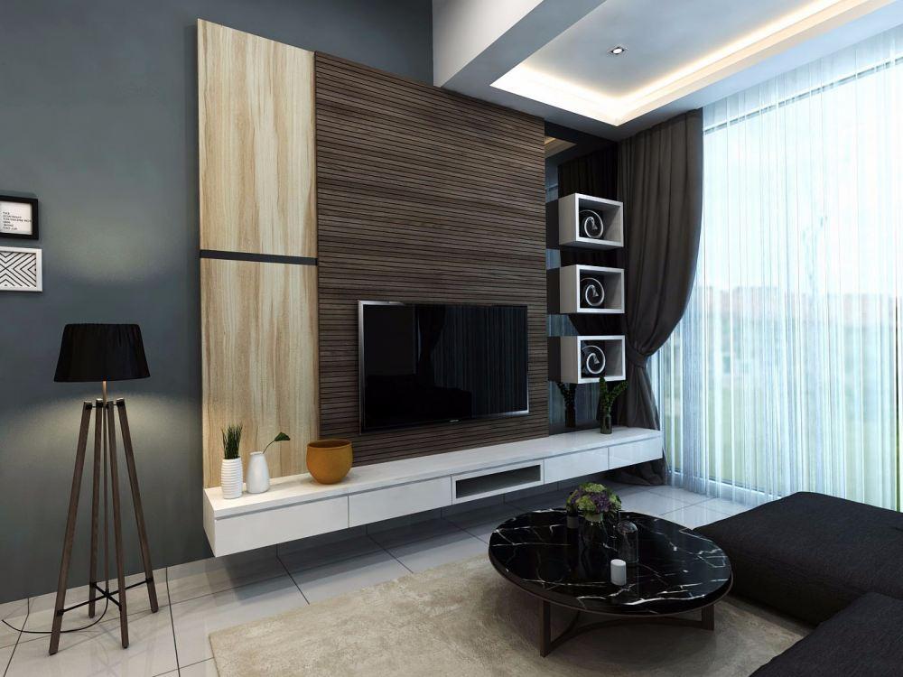 Johor living room design from eleven interior design for Room interior design sdn bhd