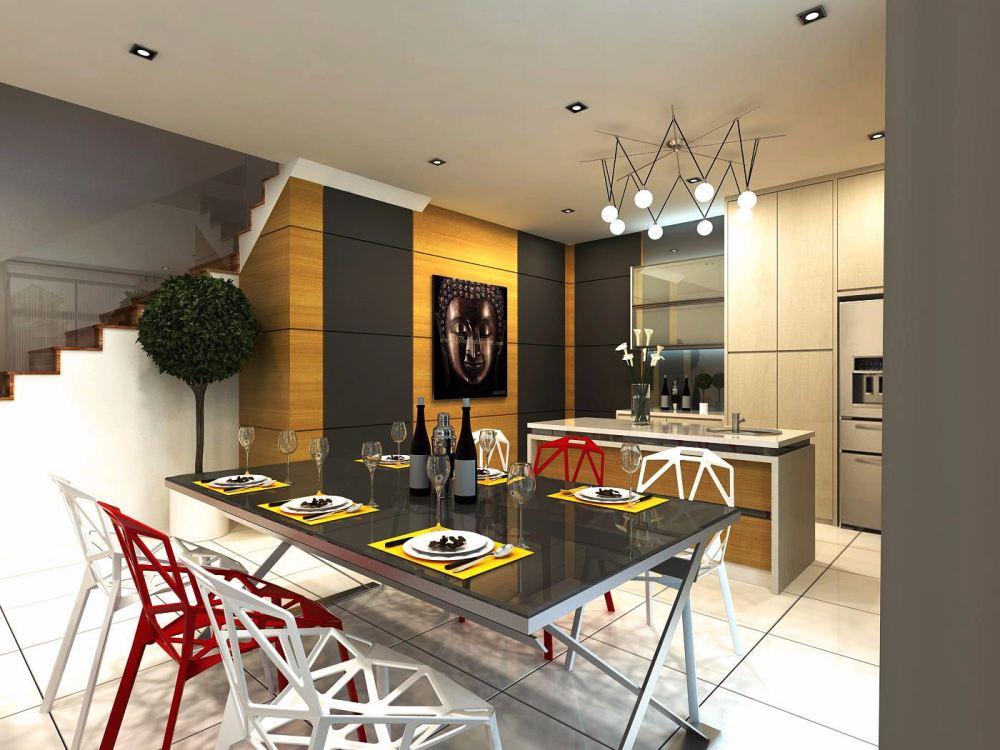 Johor dining room design daripada eleven interior design for Room interior design sdn bhd