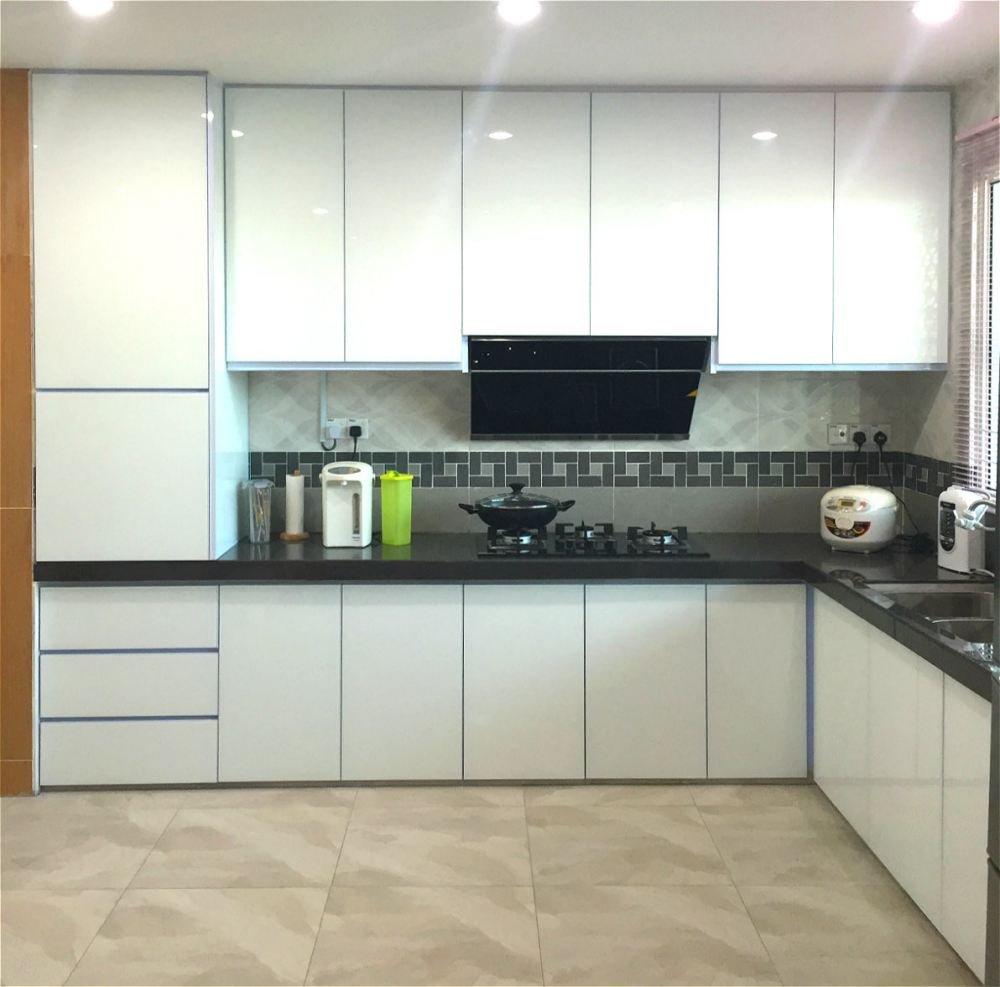 Selangor aluminium kitchen cabinet 4g 5g 4g 5g kitchen for Modern kitchen design aluminium