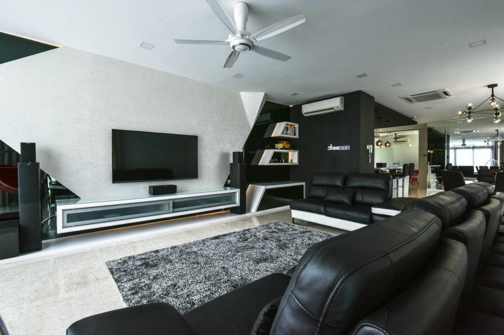 selangor living hall design daripada jashen interior