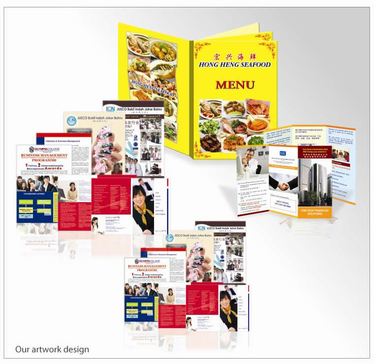 Johor bahru jb brochure flyer catalogue products from marin brochure printing along with business cards calendars distribution and postcard mailing has become the most sought marketing proposition in modern reheart Choice Image