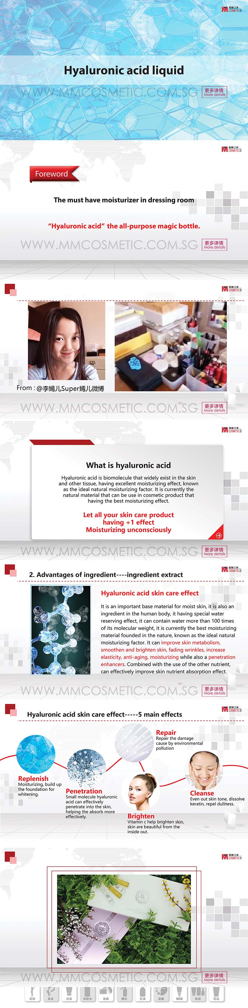 Johor Hyaluronic Acid Liquid ODM / OEM from MM COSMETIC ...